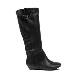 Steve Madden Intyce Black Leather Boots Size 8